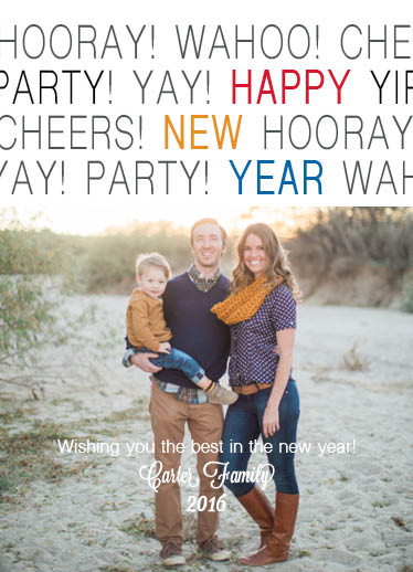 new year's cards - Hooray for a New Year by April Lammers
