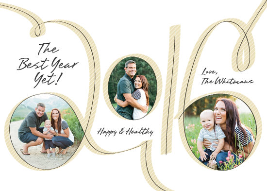 new year's cards - 2016- The Best Year Yet! by PaperLovePixels