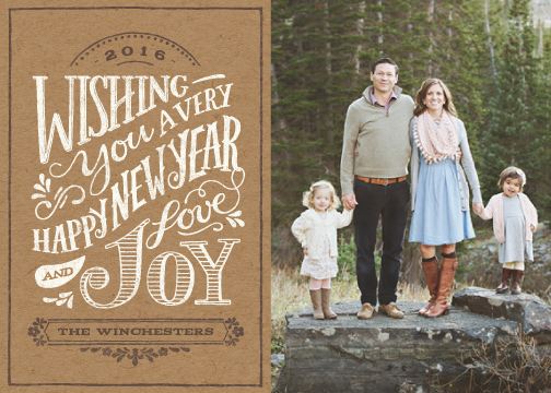 new year's cards - Rustic Wishes by Griffinbell Paper Co.