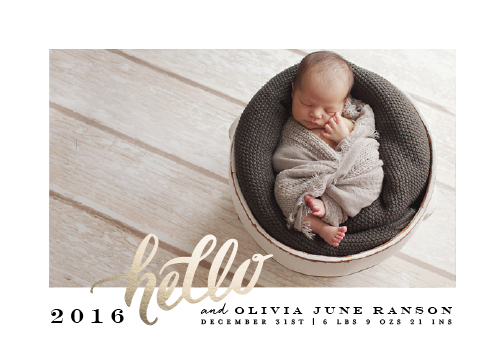 new year's cards - Hello New Baby by Lori Wemple