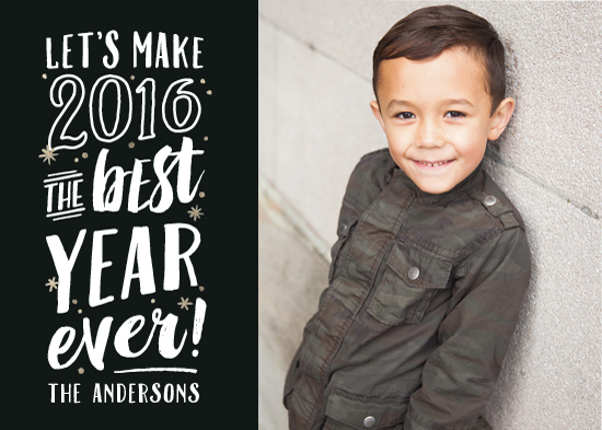new year's cards - Best Year Ever! by Hooray Creative