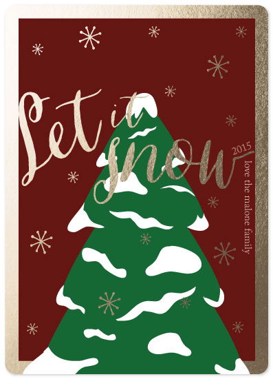 non-photo holiday cards - Let it Snow by Kristen DeAngelis