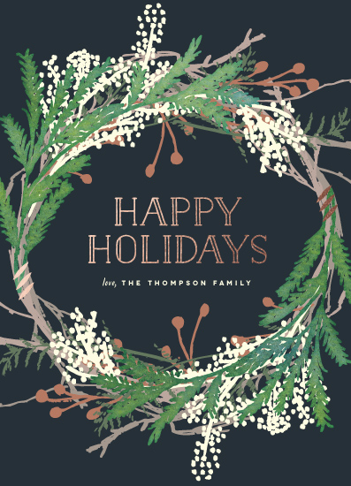 non-photo holiday cards - Pine Circle by Leah Bisch