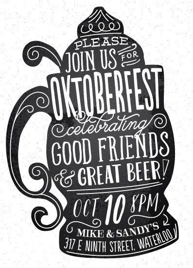 digital invitations - Oktoberfest by Jessie Steury