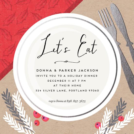 digital invitations - Xmas Dinner by Petra Kern