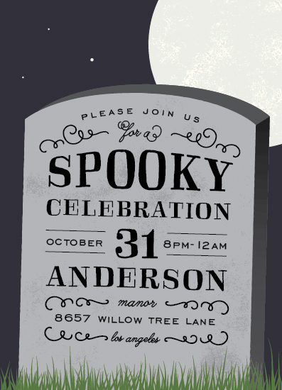 digital invitations - Spooky Celebration by Leah Bisch