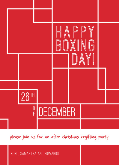 digital invitations Boxing Day Party at Mintedcom