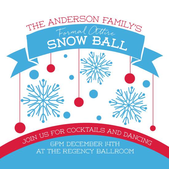 digital invitations - Snow Ball by Deanna Wardin