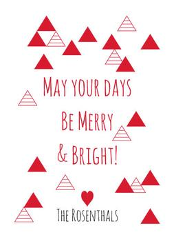 Simple triangles adorn this card to wish those you love a Happy Holidays