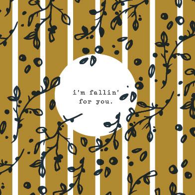 digital invitations - Fallin' for You by Kara Stineman