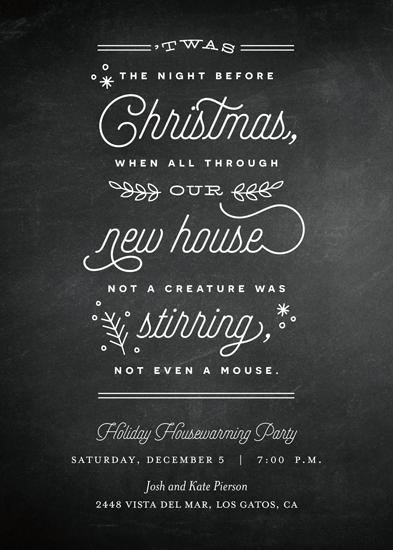 digital invitations - Chalkboard Housewarming by Eric Clegg