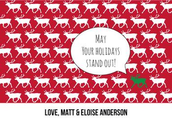 May your holidays stand out!