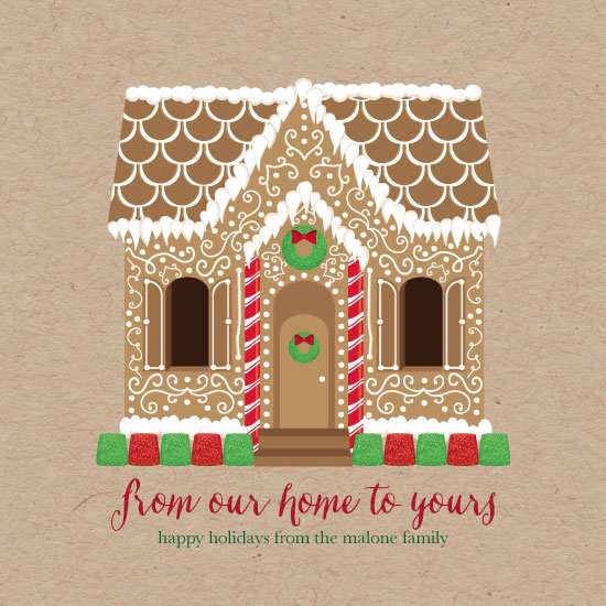 non-photo holiday cards - Gingerbread Home by Kristen DeAngelis
