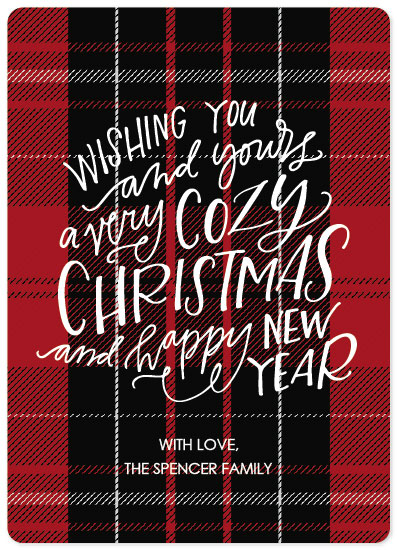 non-photo holiday cards - Cozy Christmas by West Sheridan