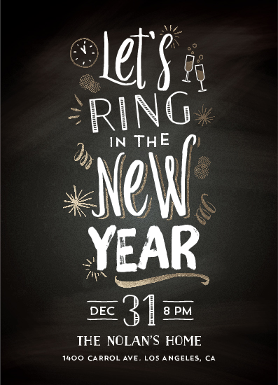 digital invitations - ring in the new year by Aspacia Kusulas