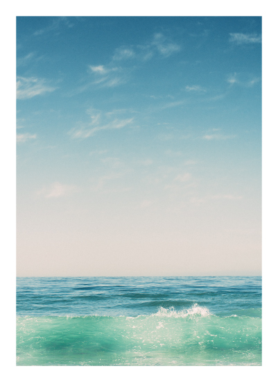 art prints - Malibu Surf and Sky II by Kamala Nahas