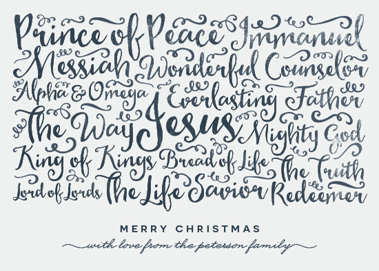 non-photo holiday cards - Names of Jesus by peony papeterie