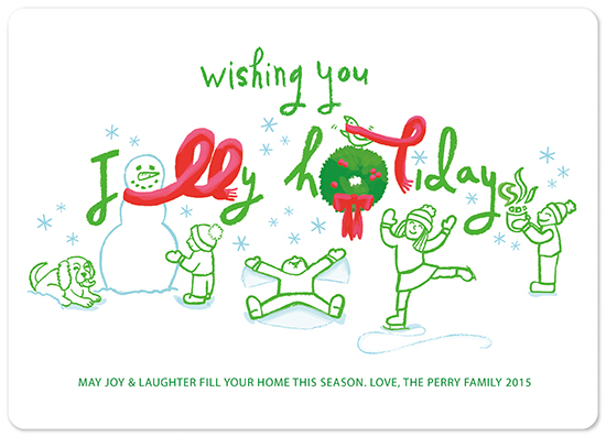 non-photo holiday cards - Jolly Holidays by Erin Perry
