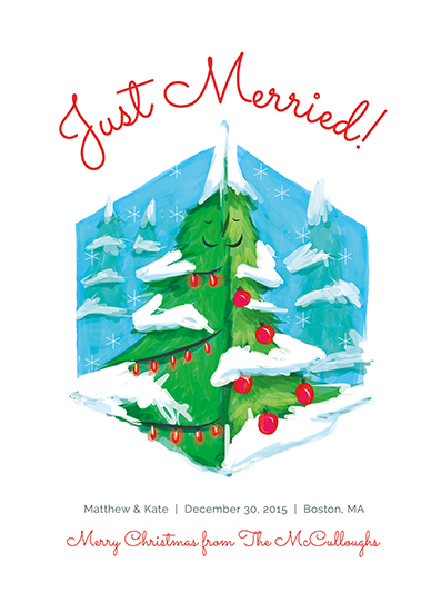 non-photo holiday cards - Just Merried by Erin Perry