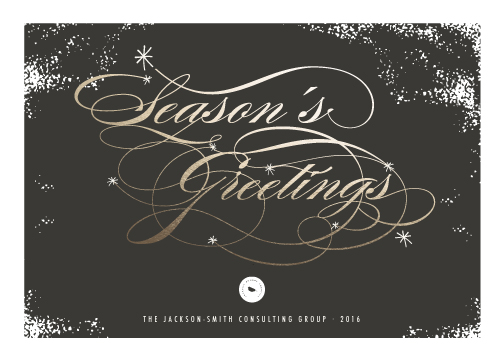 business holiday cards - Classic Season's Greetings by fatfatin