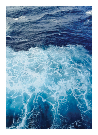 art prints - Wavy Blue by CaroleeXpressions