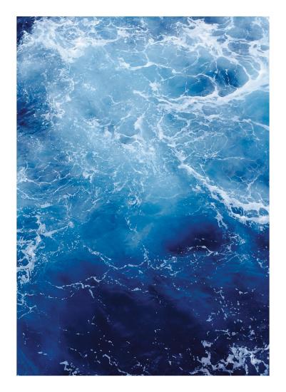 art prints - Waving Blue by CaroleeXpressions