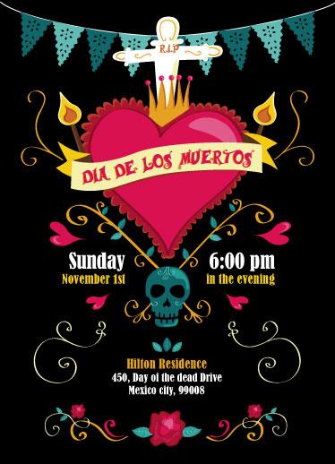 digital invitations - Dia de los Muertos by Emma Whitelaw
