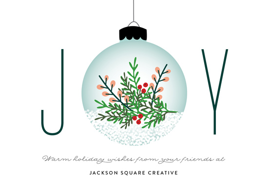 business holiday cards - Joyful Ornament by Erica Krystek