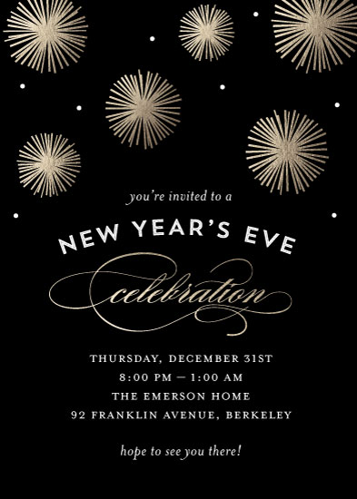 digital invitations - Midnight Celebration by Sandra Picco Design