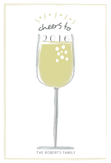 non-photo holiday cards - New Years Cheers by Amanda Majorsky