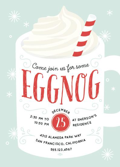 digital invitations - Warm Eggnog by Four Wet Feet Studio