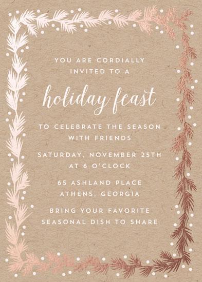 digital invitations - Kraft and Pine by Katharine Watson