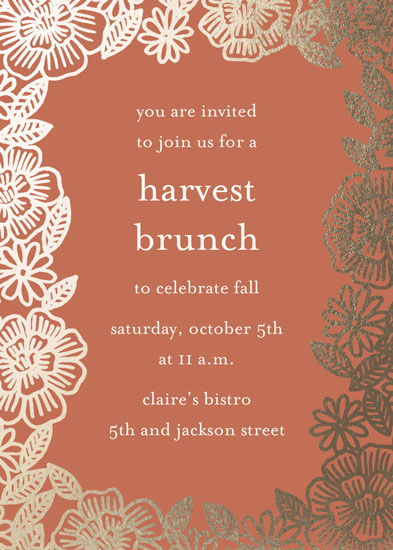 digital invitations - Harvest Floral by Katharine Watson