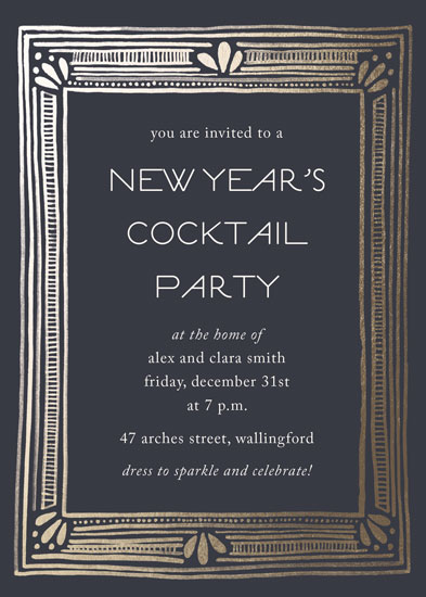 digital invitations - Deco New Year by Katharine Watson