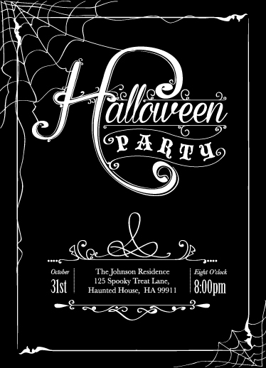 digital invitations - All Hallows Eve by Emma Whitelaw