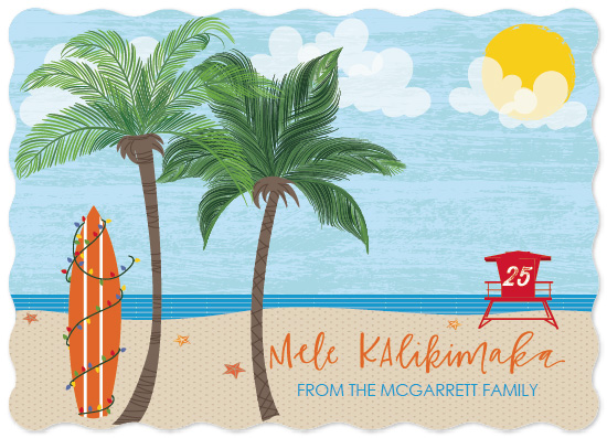 non-photo holiday cards - Mele Kalikimaka by West Sheridan