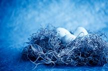 Nest In Blue by Tanya Joiner Slate
