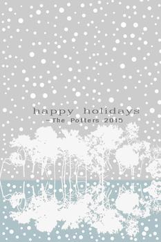 happy holidays reflective trees