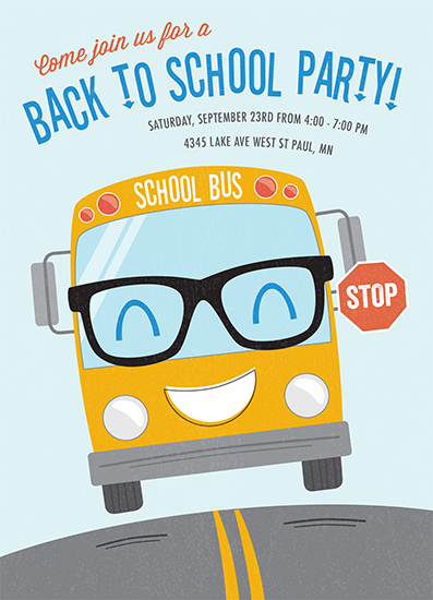 digital invitations - Happy School Bus by Chelsey Scott
