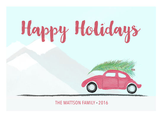non-photo holiday cards - Heading Toward The Holidays by Smile Peace Love