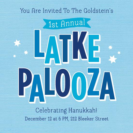 digital invitations - Latkepalooza by RedRedOrange