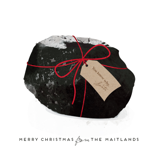 non-photo holiday cards - Coal by Paul Berthelot