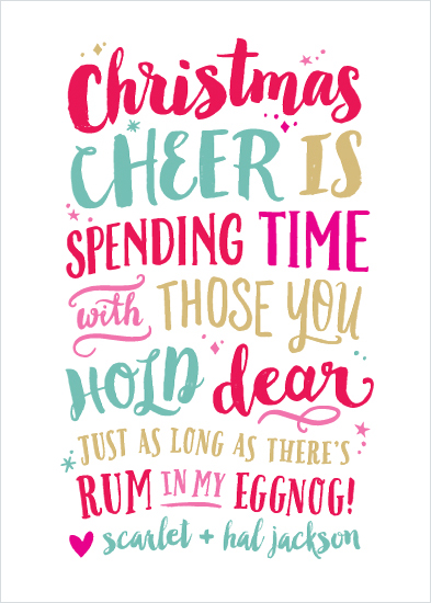 non-photo holiday cards - Christmas Cheer by Hooray Creative