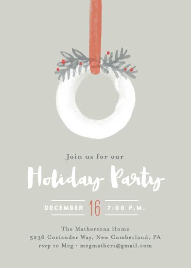 digital invitations - Wintry wreath by Jennifer Wick