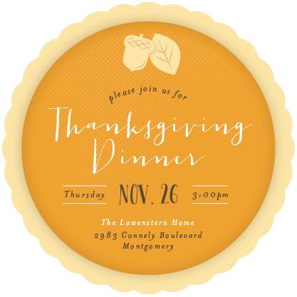 digital invitations - Piece of Pie by Shari Margolin