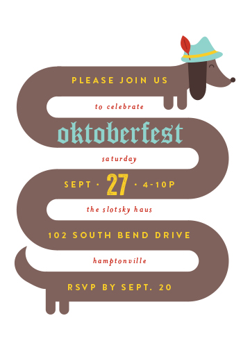 digital invitations - HotDogtoberfest by Shari Margolin