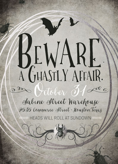 digital invitations - A Ghastly Affair by tad and faboo