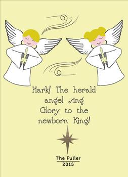 Angels Sing Non-Photo Holiday Card