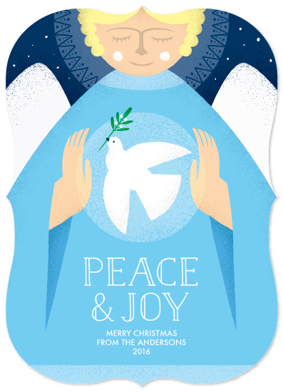 non-photo holiday cards - Peace Angel by Maria M. Keeler