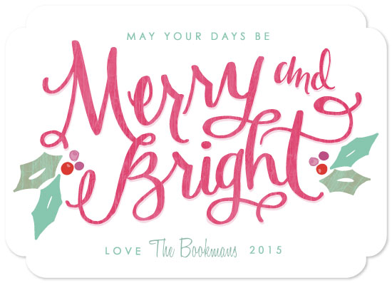 non-photo holiday cards - Berry Merry and Bright by Makewells